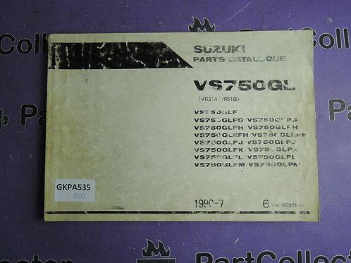 1990-7 SUZUKI  VS 750GL PARTS CATALOGUE 9900B-30058-050