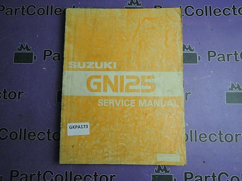 1982 SUZUKI GNI25 SERVICE MANUAL 99500-31000-01E