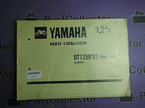 1992 YAMAHA DT125R BOOK PARTS CATALOGUE 123RM-300E1