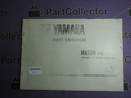1990 YAMAHA MA 50H BOOK PARTS CATALOGUE 114f0-200E1