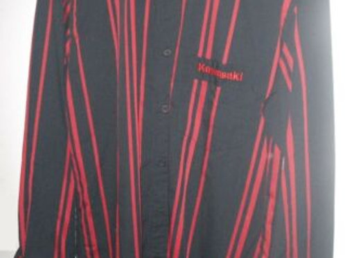 KAWASAKI SHIRT LONG SLEEVES XL EXTRA LARGE RED BLACK GENUINE 153STM0024 NOS