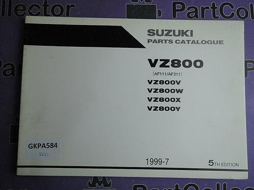1999-7 SUZUKI VZ800 PARTS CATALOGUE 9900B-30112-030