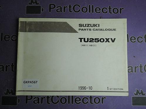 1996-10 SUZUKI TU250XV PARTS CATALOGUE 9900B-28037