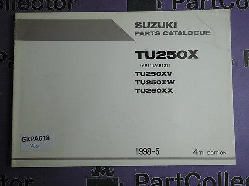 1998-5 SUZUKI TU250X PARTS CATALOGUE 9900B-28037-020