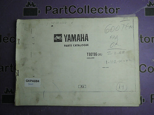 1986 YAMAHA T 80 [2FL] BOOK PARTS CATALOGUE 162FL-310E1 EUROPE