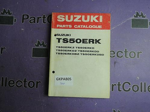 1982 SUZUKI TS50ERK PARTS CATALOGUE 99000-94767