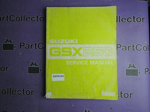 SUZUKI 1983 SERVICE MANUAL GSX 250 99500-32001-01E