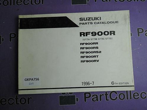 1996-7 SUZUKI RF900R PARTS CATALOGUE 9900B-30095-030