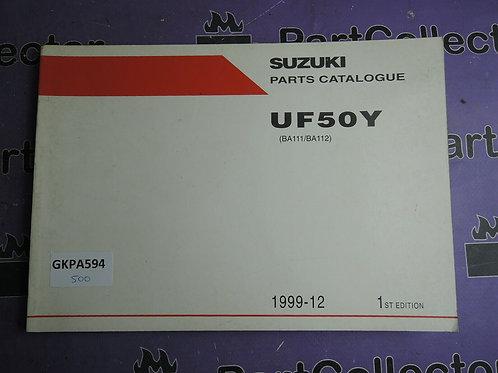 1999-12 SUZUKI  UF50Y PARTS CATALOGUE 9900B-35F00