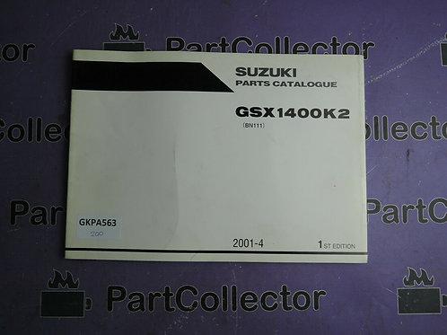 2001-4 SUZUKI GSX 1400K2 PARTS CATALOGUE 9900B-30142