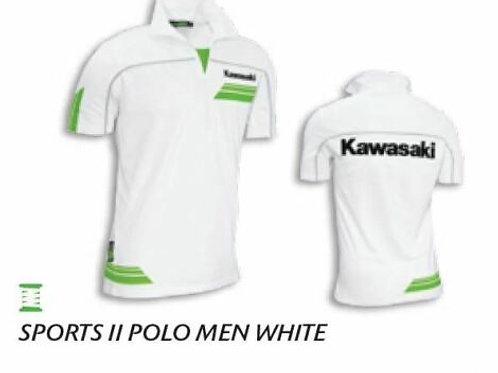 KAWASAKI POLO SPORTS II MEN WHT XS S SMALL WHITE GENUINE 139SPM0101 NOS