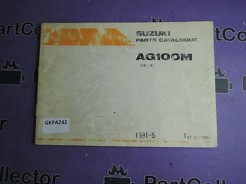 1991-5 SUZUKI AG 100 M PARTS CATALOGUE 9900B-20050