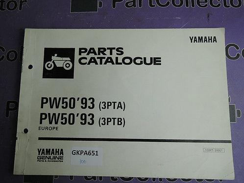 1993 YAMAHA PW50 PARTS CATALOGUE 133PT-300E1