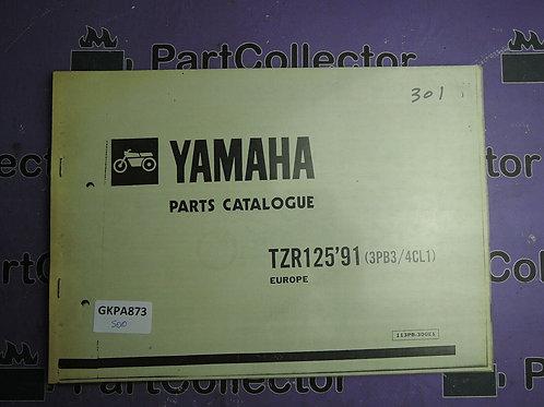 1991 YAMAHA TZR 125 BOOK PARTS CATALOGUE 113PB-300E1
