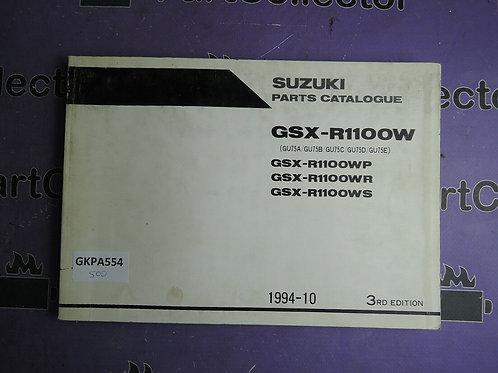 1994-10 SUZUKI GSX-R1100W PARTS CATALOGUE 9900B-30091-020