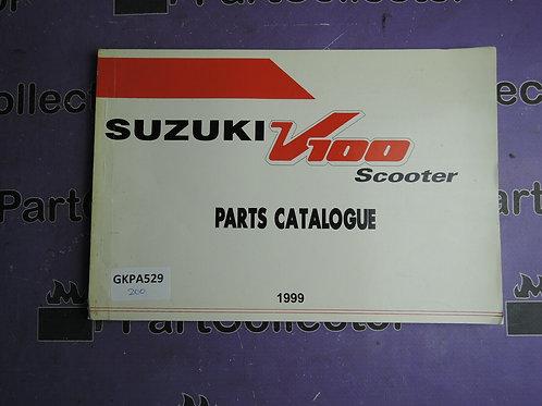 1999 SUZUKI V100 PARTS CATALOGUE 9000BAG100