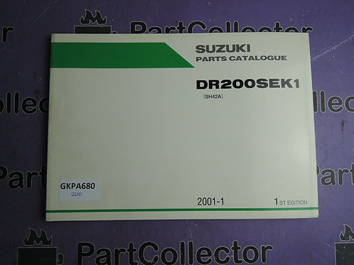 2001-1 SUZUKI DR200SEK1 PARTS CATALOGUE 9900B-26015