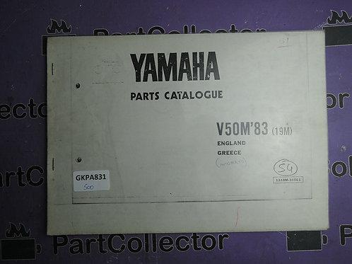 1983 YAMAHA V50M BOOK PARTS CATALOGUE 1319M-310E1