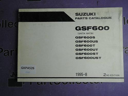 1995-8 SUZUKI  PARTS GSF 600 CATALOGUE 9900B-30098-010