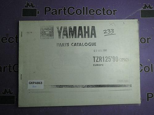 1990 YAMAHA TZR 125 BOOK PARTS CATALOGUE 103PA-300E1 [3PA2]EUROPE