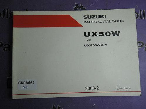2000-2  SUZUKI UX50W PARTS CATALOGUE 9900B-22F00-010