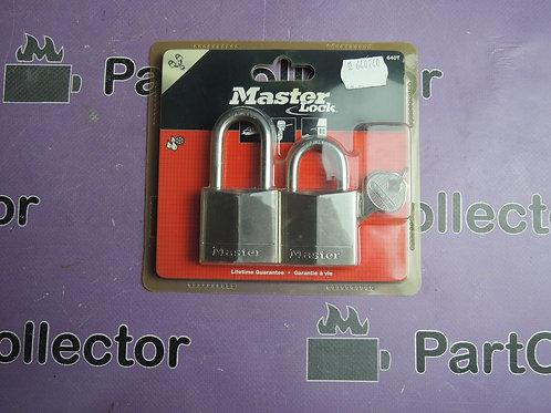 640T Master Lock PADLOCK SAME KEY OPENS BOTH LOCKS U.S.A
