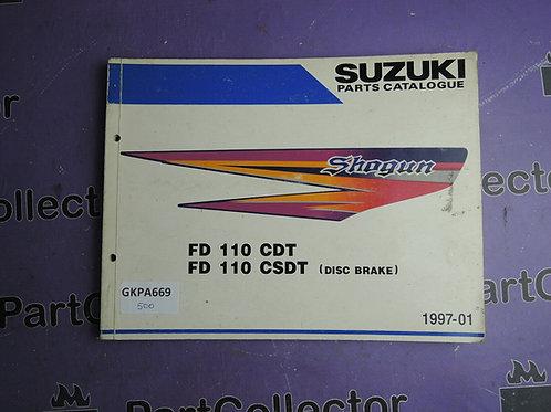 1997-01 SUZUKI FD110 CDT CSDT PARTS CATALOGUE 9900B-21CC1L000