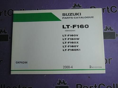 2004-4 SUZUKI  LT-F160 PARTS CATALOGUE 9900B-26014-00
