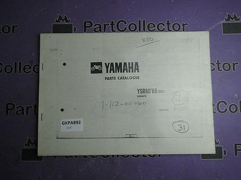 1988 YAMAHA YSR 80 BOOK PARTS CATALOGUE 183CR-300E1