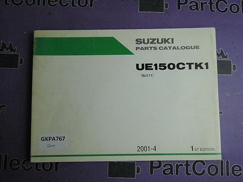 2001-4 SUZUKI UE150GTK1 PARTS CATALOGUE 9900B-26016
