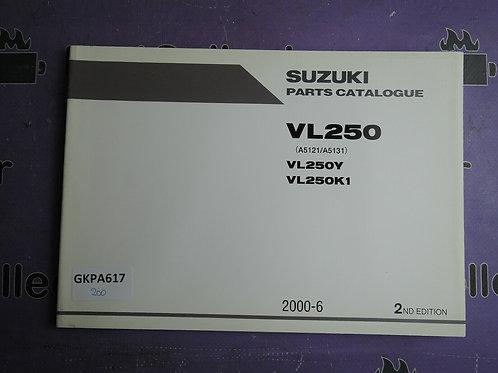 2000-6 SUZUKI VL250 PARTS CATALOGUE 9900B-28042-010