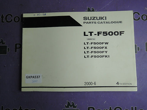 2000-6 SUZUKI  PARTS LT-F500F CATALOGUE 9900B-30121-030