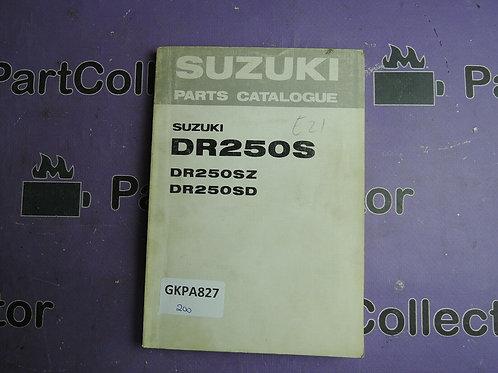 1982 SUZUKI DR250S PARTS CATALOGUE 99000-94856
