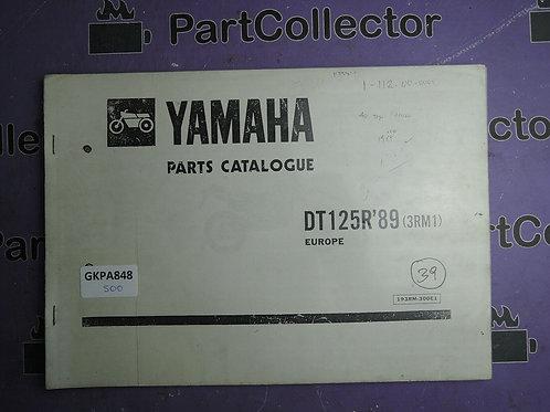 1989 YAMAHA DT125R BOOK PARTS CATALOGUE
