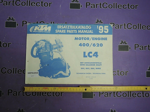 1995 KTM 400 620 BOOK SPARE PARTS MANUAL 3.203.82