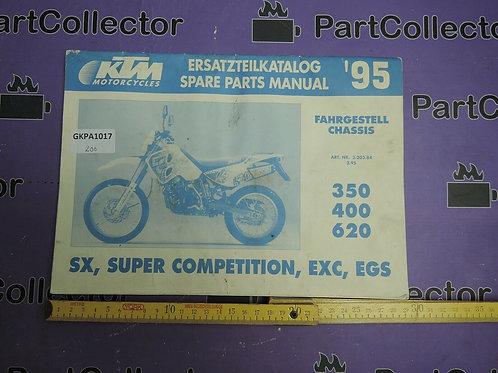 1995 KTM 350 600 620  BOOK SPARE PARTS MANUAL 3.203.84