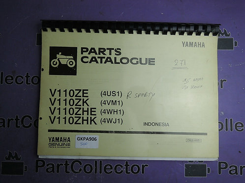 1996 YAMAHA V 110ZE  BOOK PARTS CATALOGUE 174US-460E1