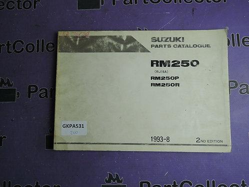 1993-8 SUZUKI RM 250 PARTS CATALOGUE 9900B-28030-010