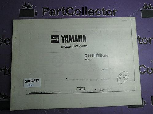 1989 YAMAHA XV 1100 BOOK PARTS CATALOGUE 193LP-351F1