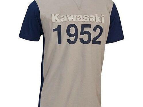 KAWASAKI T-SHIRT VINTAGE 1952 XXL XXXL EXTRA LARGE GREY GENUINE 177STM0036 NOS