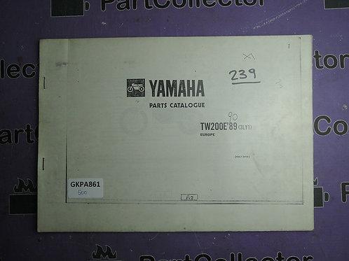 1989 YAMAHA TW 200E [3LY1] EUROPE BOOK PARTS CATALOGUE 193LY-300E1