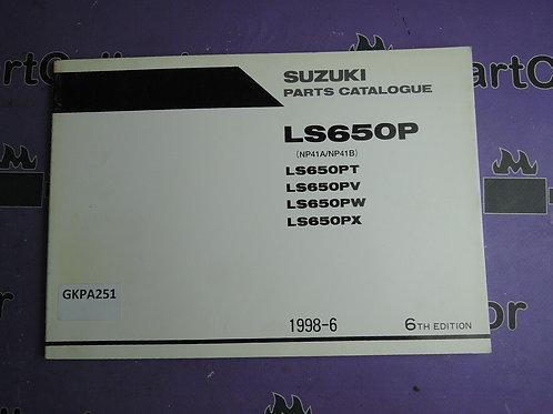 1998-6 SUZUKI LS 650P PARTS CATALOGUE 9900B-30101-030 GREEK