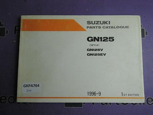 1996-9 SUZUKI GN125 PARTS CATALOGUE 9900B-20064