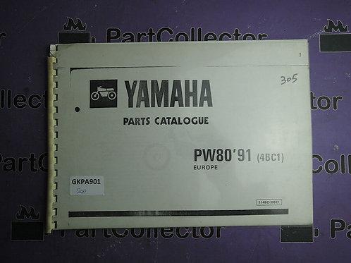 1991 YAMAHA PW 80 BOOK PARTS CATALOGUE 114BC-300E1