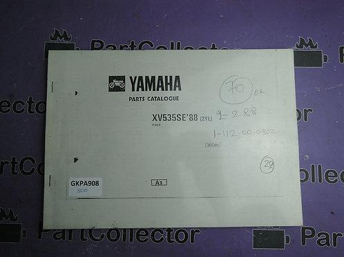 1988 YAMAHA XV 535SE BOOK PARTS CATALOGUE 132YL-354E1