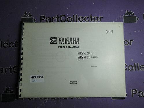 1991 YAMAHA WR 250ZB BOOK PARTS CATALOGUE 113RB-100E1