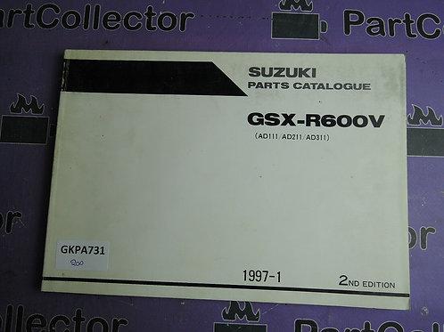 1997-1 SUZUKI GSX-R600V PARTS CATALOGUE 9900B-30113-001