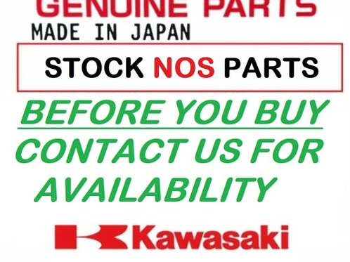 KAWASAKI KMX125 86-88 HOLDER STEP REAR LEFT SILVER NO15 FOOTREST 340031263X3 NOS