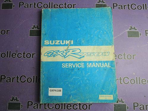 1991 SUZUKI GSX-R750W SERVICE MANUAL 99500-37070-01E