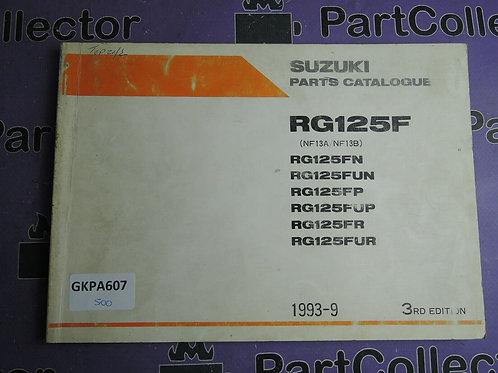 1993-9 SUZUKI RG125F PARTS CATALOGUE 9900B-20052-020